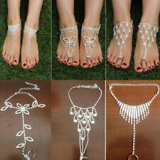 Sandals Crystal Ankle Bracelet Toe Ring Jewelry Foot Chain