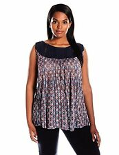 Lucky Brand Women's Plus-SZ Embroidered Yoke Top - Choose SZ/Color