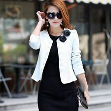 Candy Color Women Fashion Solid Bow Slim Casual Suit Blazer OL Short Coat Jacket