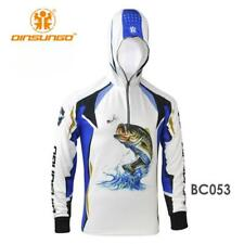 Men Hooded Fishing Shirt Tournament Jersey Long Sleeve Quick Dry UV Protection