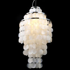 Modern Funy Mother of Pearl Ceiling Lamp Hanging Pendant Light in White or Pink