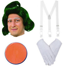 Oompa Loompa Chocolate Factory Instant Kit Face Paint Wig Gloves Braces Dahl