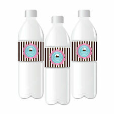 24 Cupcake Birthday Bridal Shower Personalized Water Bottle Labels Q47060