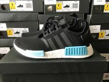 Adidas NMD R1 Runner Boost Nomad Primeknit Core Black Mint Women's BY9951 Rare
