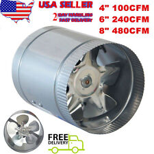 """2017 4"""" 6"""" 8"""" Inch Booster Fan Inline Blower Exhaust Ducting Cooling Vent HPS WA"""
