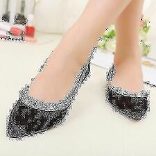 New Casual Women's Rivet Solid Flat Pointed Toe Simple Loafer Shoes Black Hot
