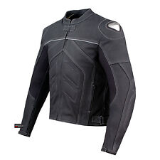 Charger Motorcycle [CE] Armor Cow Leather Jacket Black
