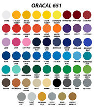 "12"" x 6"" Gloss Matte Craft Adhesive Backed Vinyl Sheets Oracal 651 Silhouette"