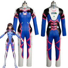 Overwatch D.VA DVA Hana Song Cosplay Costume Battle Suit Dress Jumpsuit Uniform