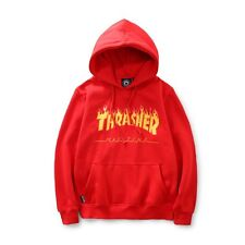 Red lady Men's hoodie sweater Hip-hop Skateboard Thrasher Streetwear Sweatshirts