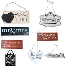 Shabby Chic Hanging Sign Wall Door Plaque Wedding Romantic Hanging Decorations