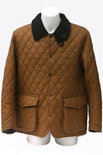 Oxford Blue Traditional Waxed Cotton Jacket Quilted Coat England Great Britain L