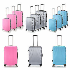 28/57/95 litre Small Medium Large Hard 4 Wheel ABS Luggage Trolley Case Suitcase