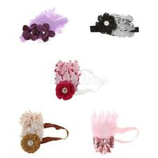 Charm Feather Brand Headband Baby Girl Hairband Shower Bow Flower Hair Headwear