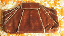 KOOBA Brown w Silver Metallic Trim Large Clutch Purse Excellent Condition