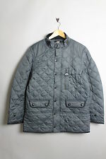 NICKELSON NMF0004 MENS QUILTED BUCKLE COLLAR SLATE GREY COAT JACKET