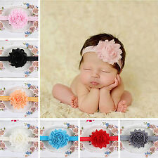 WOW New Baby Girls Toddler Lace Flower Headband Hair Band Headwear Accessories