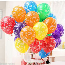 "12"" Mix Colour Happy Birthday Printed Latex Balloons party decorations balloon"