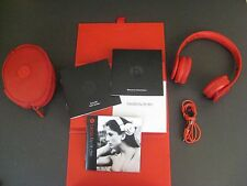 Beats by Dr. Dre Solo HD Headband Headphones / Red 810-00014 / Box & Paper Work
