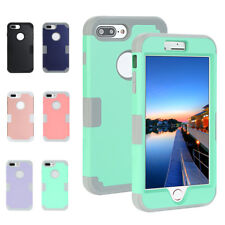 Hybrid Shockproof Silicone Heavy Duty Hard Case Cover for Apple iPhone 7/7 Plus