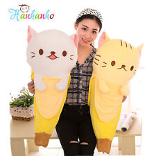Giant Banana Cat Big Plush Toy Stuffed Animal Doll Long Cushion 23 inch 4 Colors