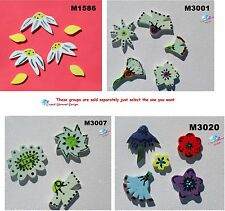 ASSORTED FLOWERS - HANDMADE, CERAMIC MOSAIC TILES ( Pick you Group ) # 23