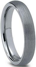 4mm Men or Ladies Tungsten Carbide Brushed Finish Domed Wedding Band Ring