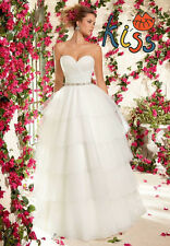 Ball Gown Pageant  Dress Wedding Dress Bridal Gown Custom Size 4 6 8 10 12 ++