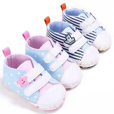 Infant Toddler Baby Boy Girl Soft Sole Crib Shoes Sneakers Prewalker 0-18 Months