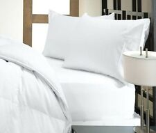 1500TC BRAND NEW SUPER WHITE BEDDING SET SOLID/STRIPE 100% EGYPTIAN COTTON 15 DP