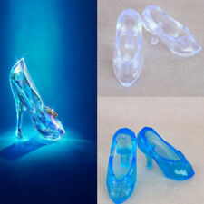 1Pairs Fairy Tale Blue Crystal Shoes Fashion Doll Shoes For Barbie Doll Fashion