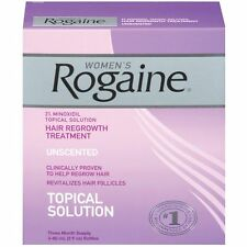 Womens Rogaine Topical Solution Hair Regrowth Treatment Three (3) Month Supply