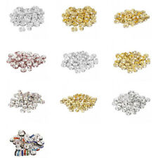 50pcs/Lot Gold Silver Rondelle Crystal Spacer Beads DIY Making Craft 6/8/10mm