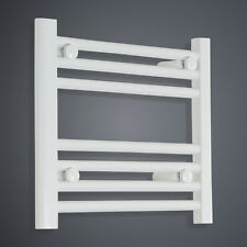 600mm Wide Central Heating Electric Heated Towel Warmer Flat White 400mm High Uk