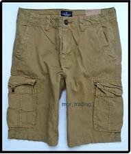 "NWT American Eagle Men's Longer Length  12"" Ripstop Cargo Shorts Khaki 33 34 NEW"
