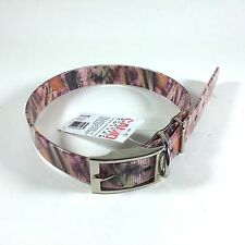 "Valhoma Pink Woodland Camo 1"" Plastic Dog Collar Various Sizes"