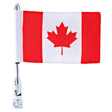 Motorcycle Flagpole Mount and Canada Flag