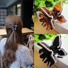 Women Butterfly Crystal Rhinestone Claw Hairpin Hair Clamp Accessory Clip New