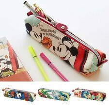 DISNEY Mickey Minnie Donald Print Pen Case Pencil Pouch Purse from Japan E2058