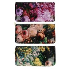 Ladies Ella Floral Print Purse 72552 with Inside Card/Coin/Note Pockets ~ K