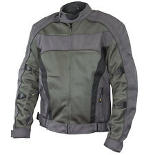 Xelement Conquest Men's Grey Tri-tex/Mesh Armored Motorcycle Jacket