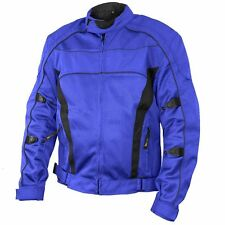 Xelement Conquest Men's Blue/Black Tri-tex/Mesh Armored Motorcycle Jacket
