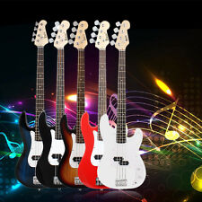 NEW Full Size 4 Strings Electric Bass Guitar +AMP Cord+Gigbag New KN#
