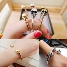 Retro Alloy Metal Jewelry Bangle Bracelet Cool Cuff Gothic Rock Skeleton Skull