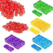 100x Opaque/Translucent 16mm Six Sided D6 Spoted Dices RPG Board Game Party Toy