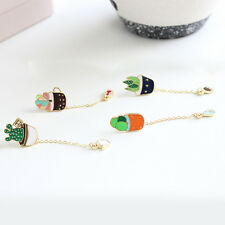 Popular Colorful Cartoon New Fashion Pin Kids Girls Gift Green Cactus Brooch