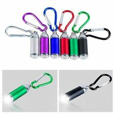 Carabina Torch Mini Pocket LED Light Flashlight Key Chain Lamp Keyring