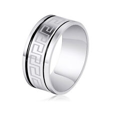 Stainless steel Womens Mens Couple Rings Size 11 8.5 Wholesale jewelry lots