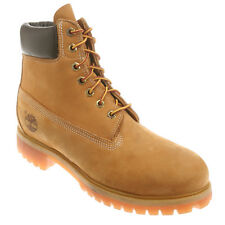 Men's Timberland 10061 6-Inch Premium Waterproof Boots Wheat Nubuck Leather