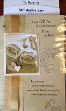 PARENTS 50TH GOLDEN HAPPY ANNIVERSARY CARD 50 YEARS  Choice 5 by HALLMARK